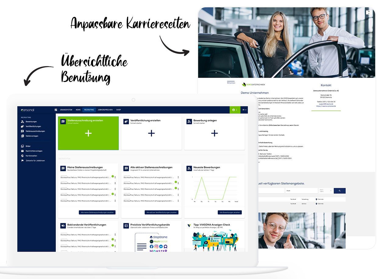 carsonal - Die All-in-One Recruiting Plattform für die Kfz Branche